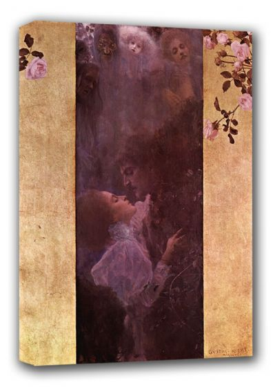 Klimt, Gustav: Allegory of Love, 1895. Fine Art Canvas. Sizes: A3/A2/A1 (00647)